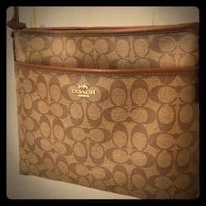 COACH Signature Crossbody File Bag